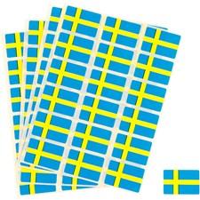 Klistermärken svenska flaggan, stl. 15x22 mm, 72 st.