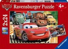 Pussel 2x24 bitar, Disney Cars