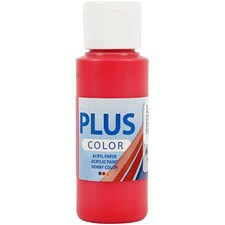 Plus Color-askartelumaali, 60 ml, crimson red