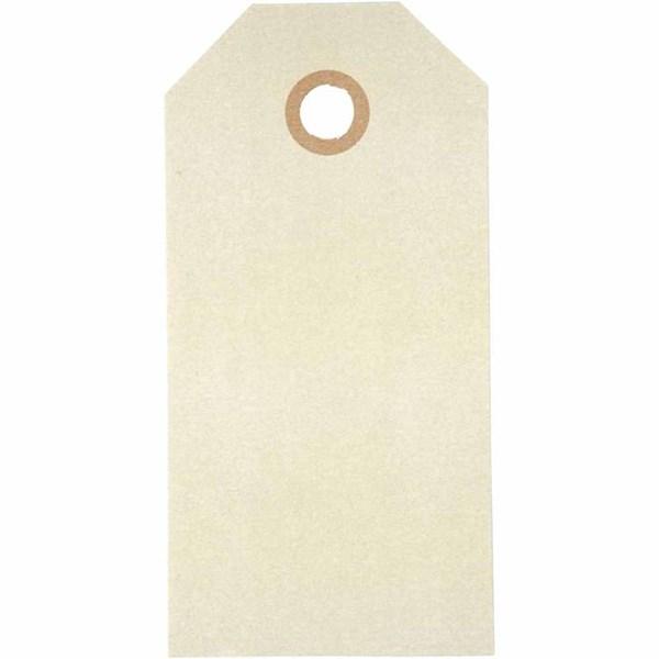 Pakettietiketit, koko 5x10 cm,  250 g, luonnonrusk., 20kpl