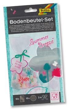 PP rehti pussisetti Summer Breeze, 21 osaa 10 pussia 145 * 235mm, 10 nimilappua, 3m satiininauha