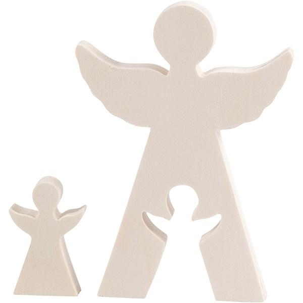 2i1 figur  änglar  H  4 5+11 5 cm  B  3+8 cm  plywood  1set  djup 1 2 cm