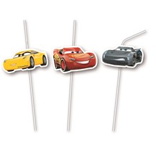 Disney Cars 3 Sugrör, 6 st