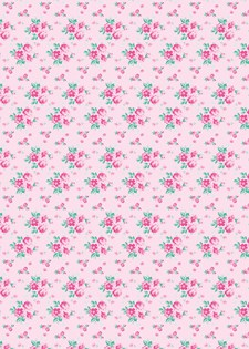 Decoupagepapir Roser Cerise, 30 x 42 cm, 1 blad