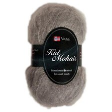 Viking of Norway Kid Mohair Garn Mohairmix 50g Ljusgrå 913