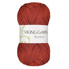 Bamboo Garn Bomullsmix 50 g Bränd Orange 653 Viking Garn