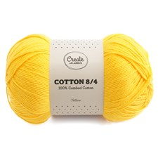 Adlibris Cotton 8/4 lanka 100g Yellow A076