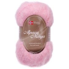 Viking of Norway Alpaca Maya Garn Alpackamix 50g Rosa 765
