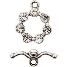 Smykkelås, stav, dia. 20 mm, L: 25 mm, 1 sett, antikk sølv